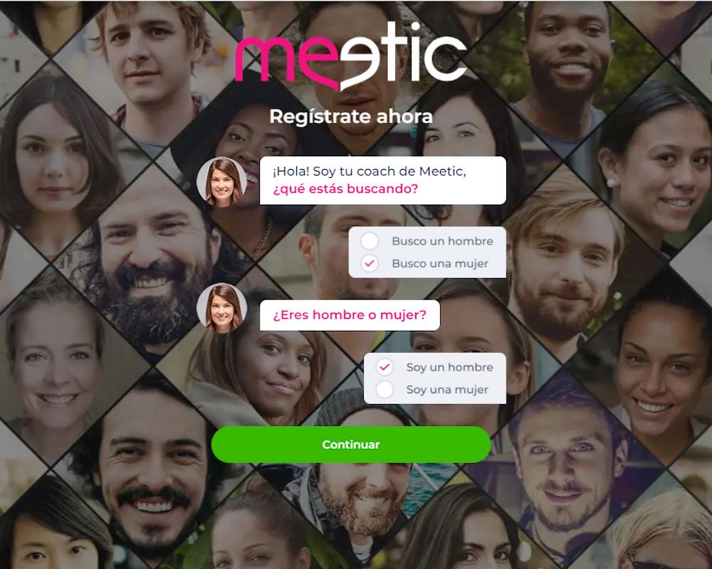 Registrarse en Meetic