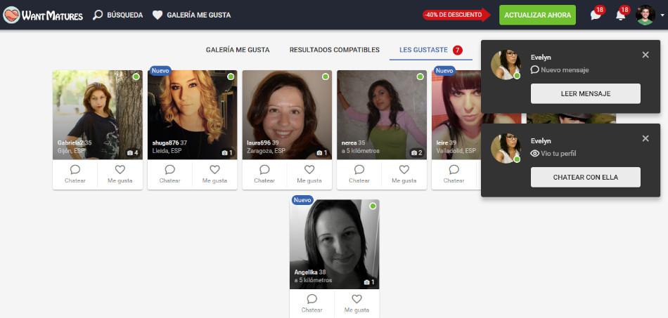 salas de chat en WantMatures